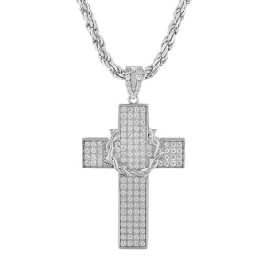 Sterling Silver Thorn Cross Pendant
