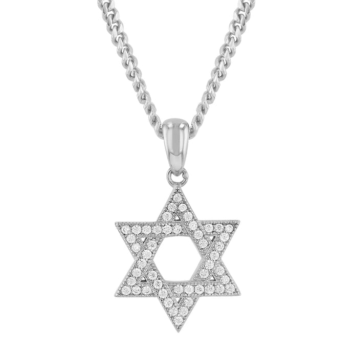 Sterling Silver Micro Star Of David Pendant