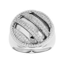 Load image into Gallery viewer, Sterling Silver Striped Ice Ring