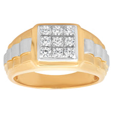 Load image into Gallery viewer, Sterling Silver Square Rolex Ring