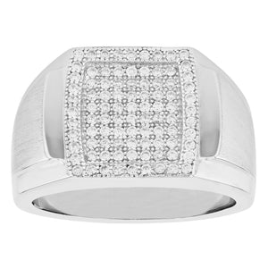 Satin Pave Set Ring