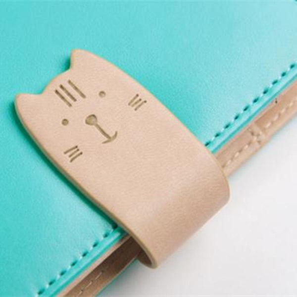 Cat Closure Notebook Planner A6 or A7 (Faux Leather)
