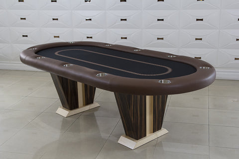 Anubis Texas Hold 'em Poker Table With 6 Matching Chairs