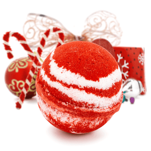 Candy Cane Crush Bath Bomb