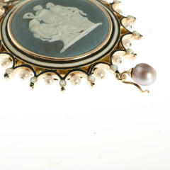 Side view of the Victorian pendant
