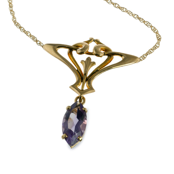 Art Nouveau Styled Amethyst Necklace