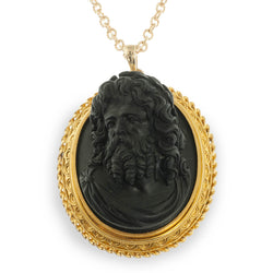 Zeus high relief onyx cameo