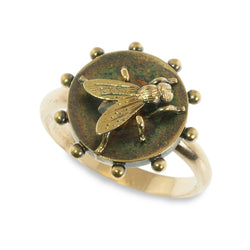 Antique Fly Repurposed Ring