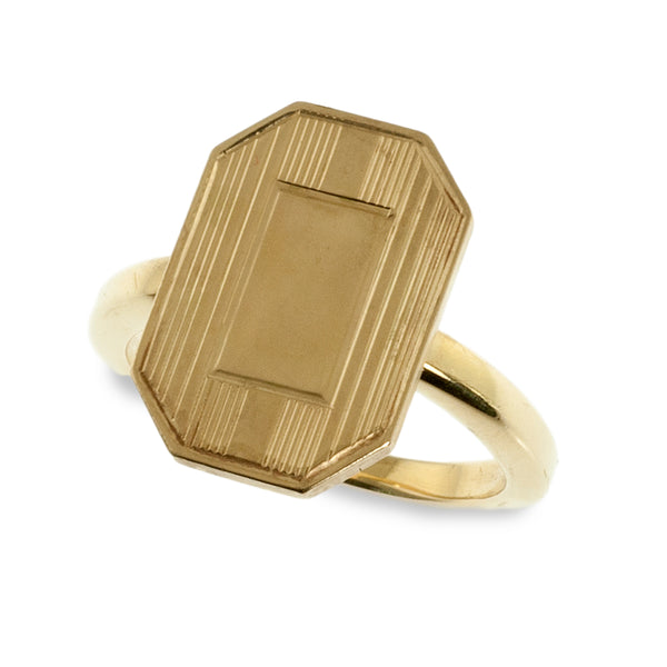 Repurposed Cuff Link Signet Ring