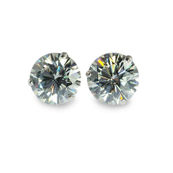 Moissanite martini studs earrings 8.5mm