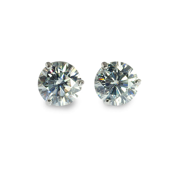 Moissanite martini studs earrings 8mm