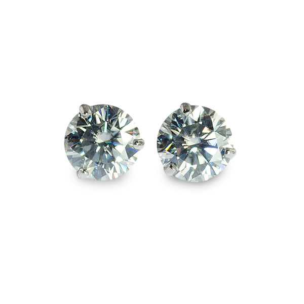 Moissanite martini studs earrings 7.5mm