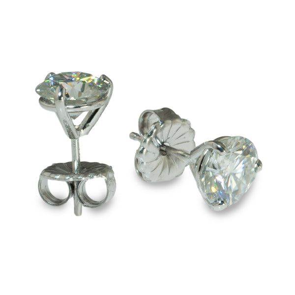 Moissanite martini studs earrings 7mm