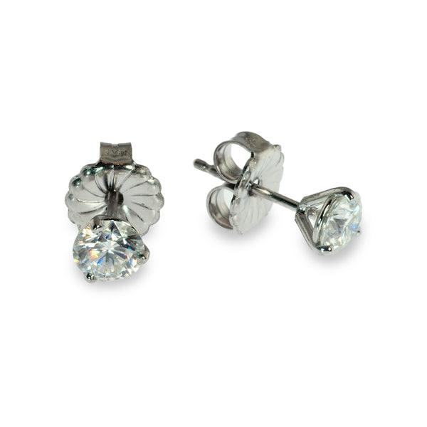 Moissanite 5mm martini stud earrings