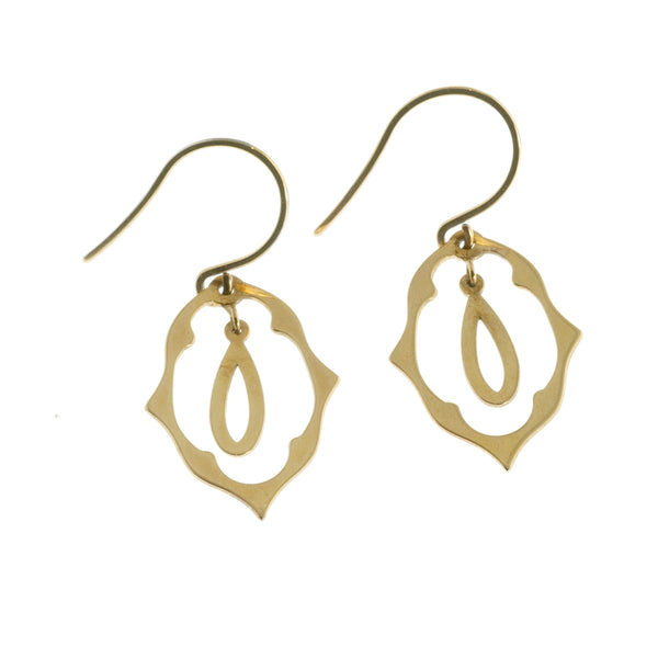 Dangly gold drop earrings