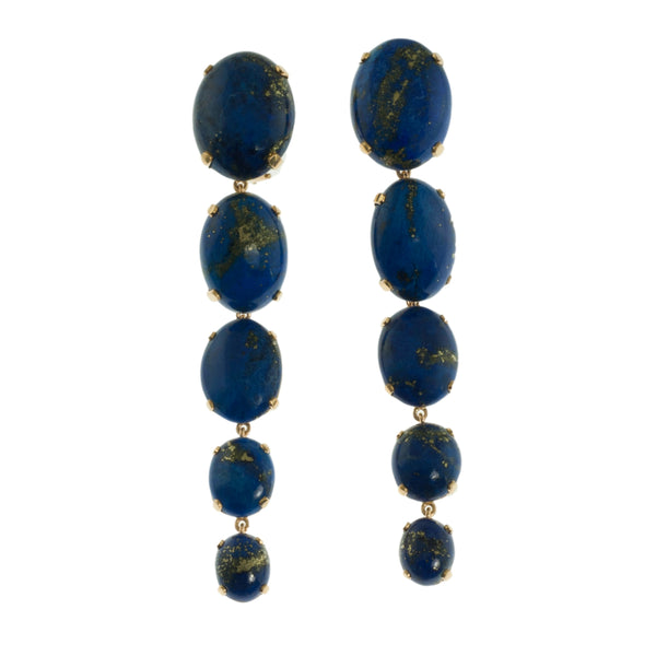 Lapis Lazuli dramatic drop earrings
