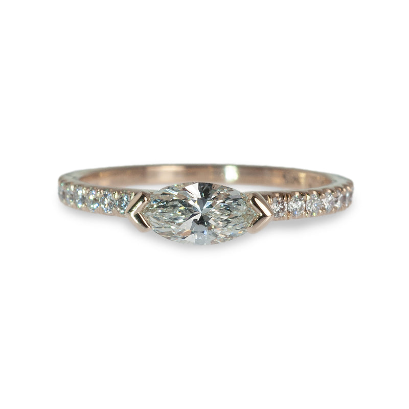 Horizontal Marquis diamond ring