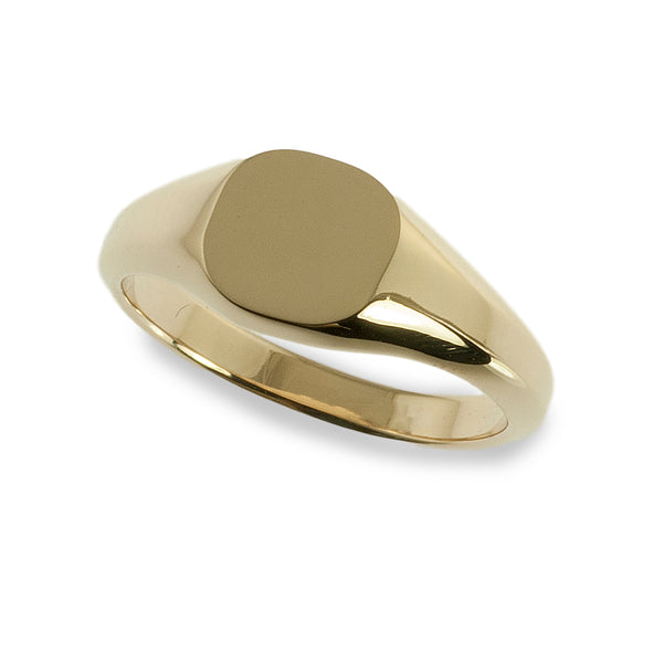 Small cushion signet ring