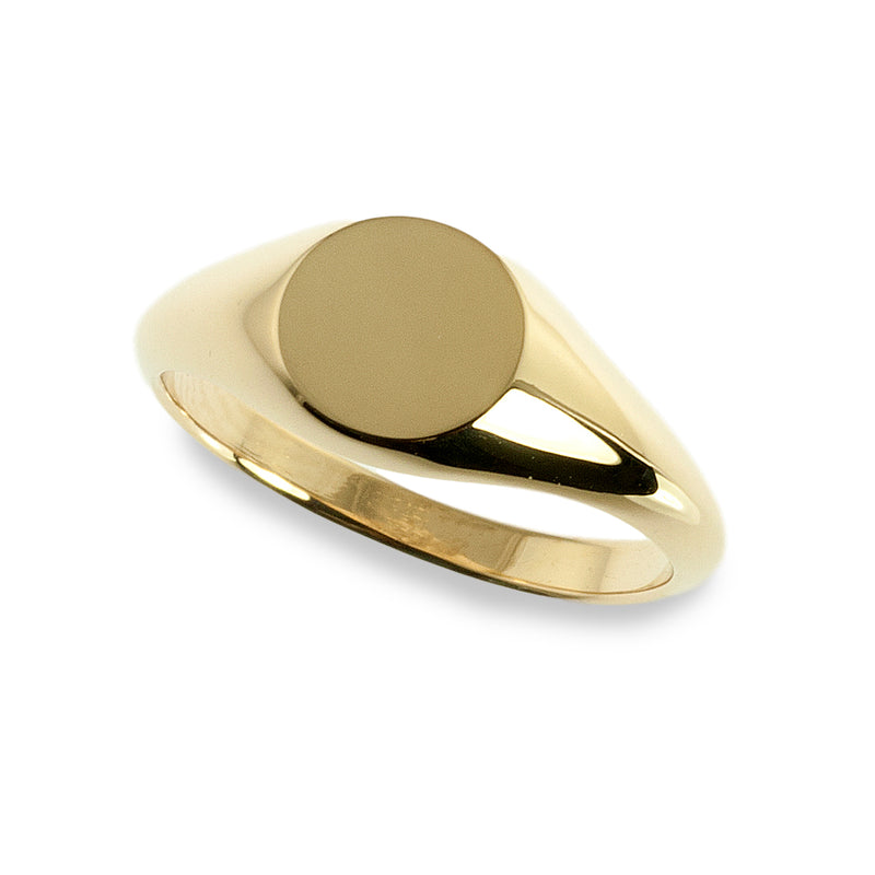 Small round signet ring