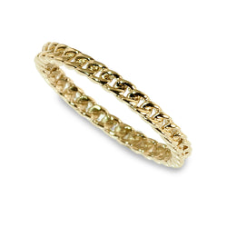 Curb link stacking ring