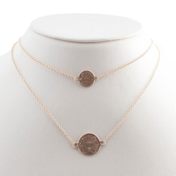 14K Gold Wallpaper Station Necklace