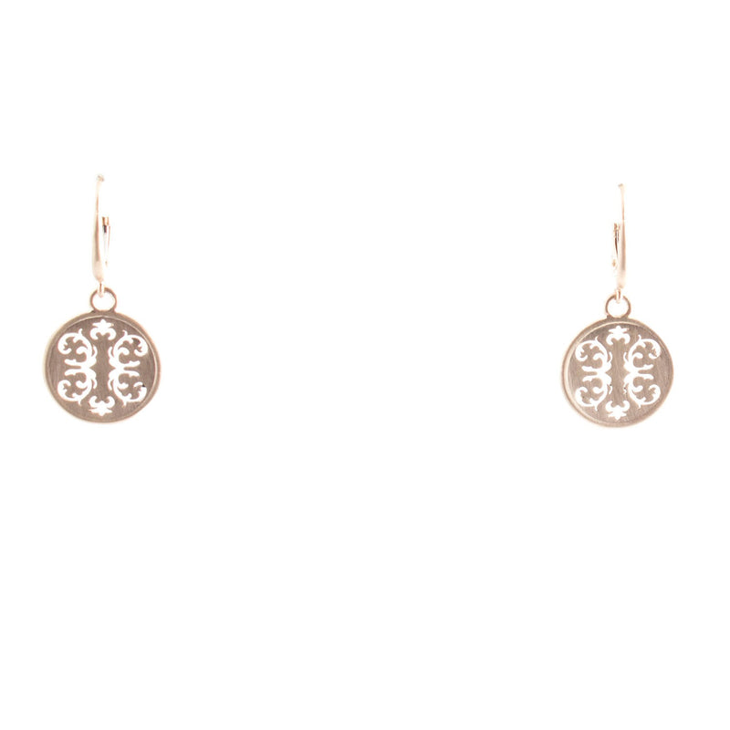 14k Gold Wallpaper Leverback Earrings