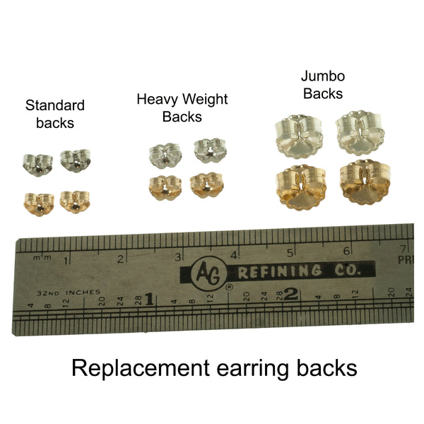 Heavy weight earring backs