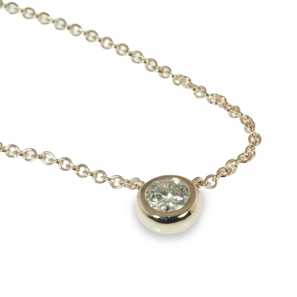 Bezel set .40 carat diamond pendant