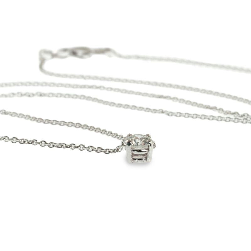 Diamond solitaire prong set pendant