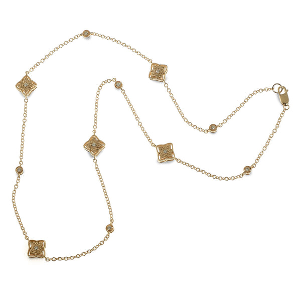 Byzantine quatrefoil station necklace