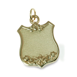 Floral shield pendant