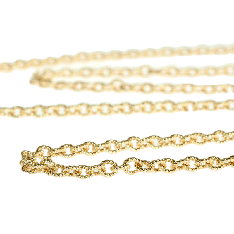 "24"" textured 2.3mm cable chain"