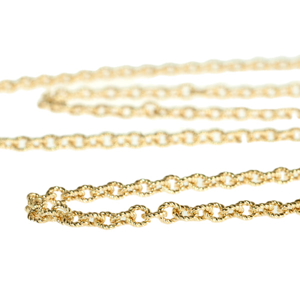 "16"" textured 1.5mm cable chain"
