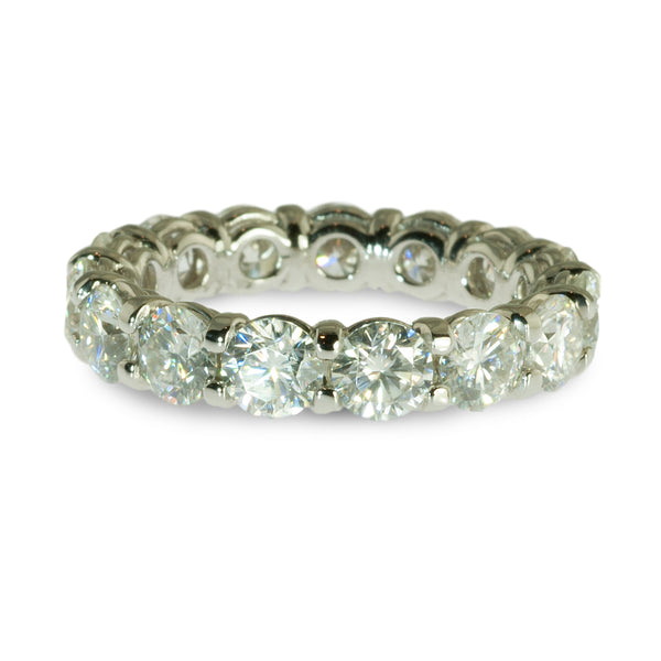 Moissanite eternity ring