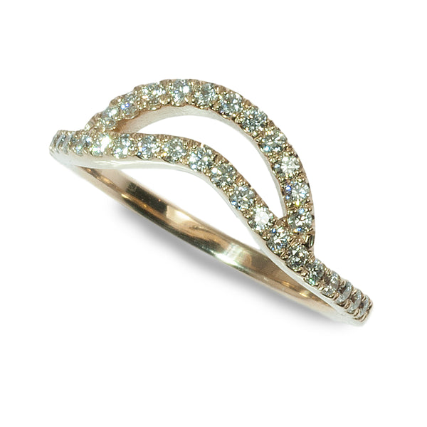 Double curved diamond band