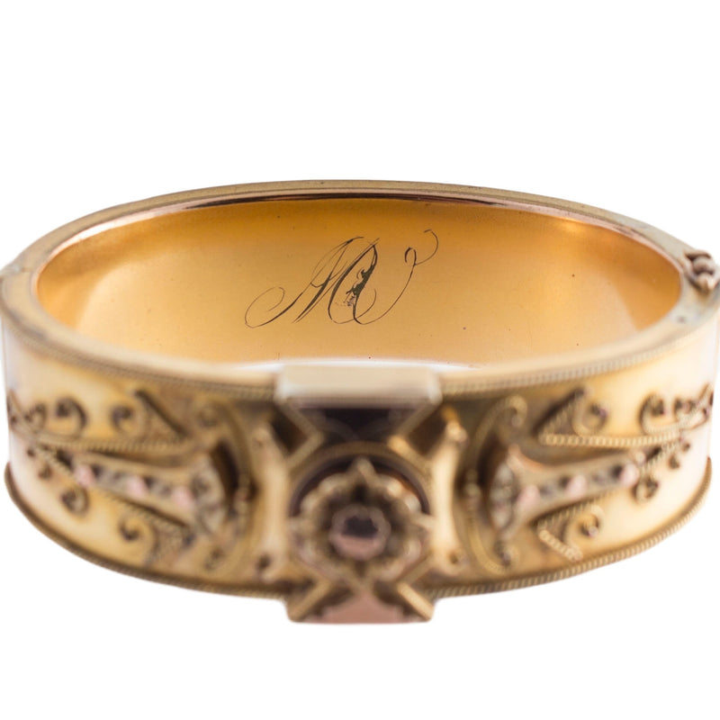 Victorian Gold Filled Ornate Bangle