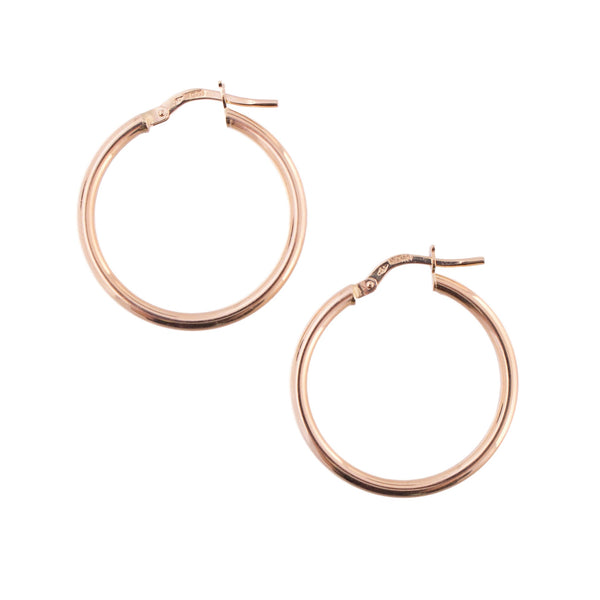 14K Gold Basic Hoop Earrings