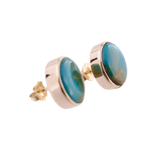 Turquoise Button Earrings