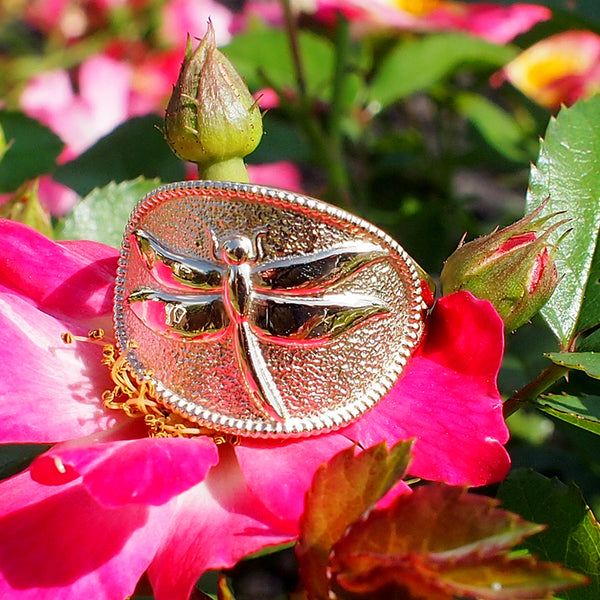 Dragonfly cigar band ring