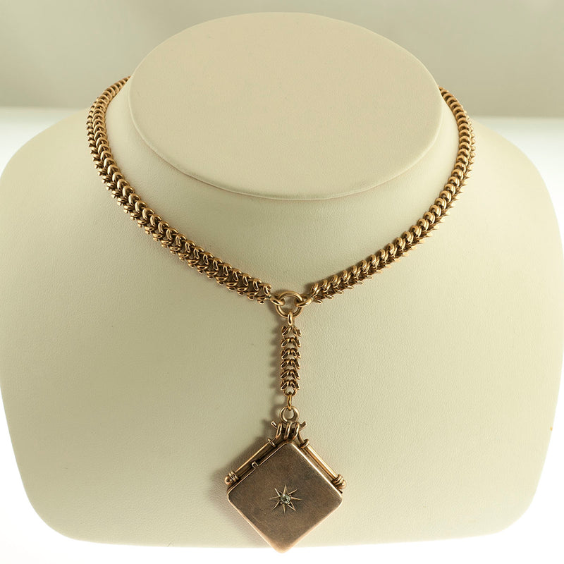 Victorian 14K Gold Square Locket