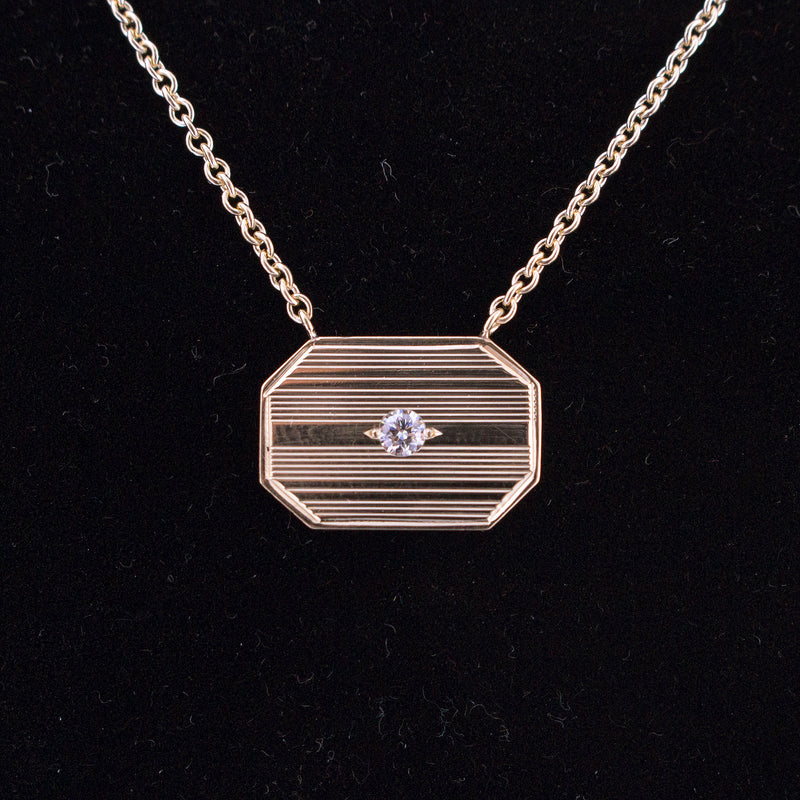 Repurposed Cuff Link Rectangle Necklace