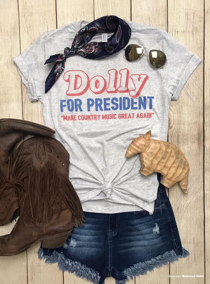 Dolly for President ~ Gray