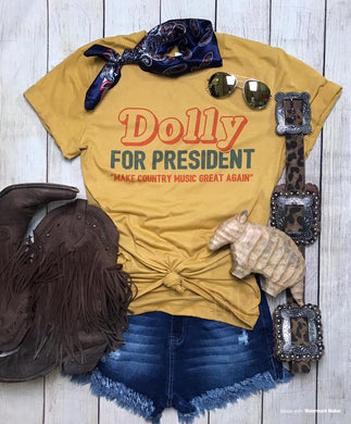 Dolly For President ~ Mustard
