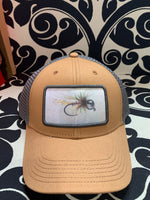 Load image into Gallery viewer, bead headed nymph camel/dark gray lo pro trucker hat