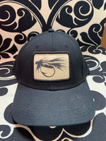 Load image into Gallery viewer, black & white fly black mid pro snapback hat