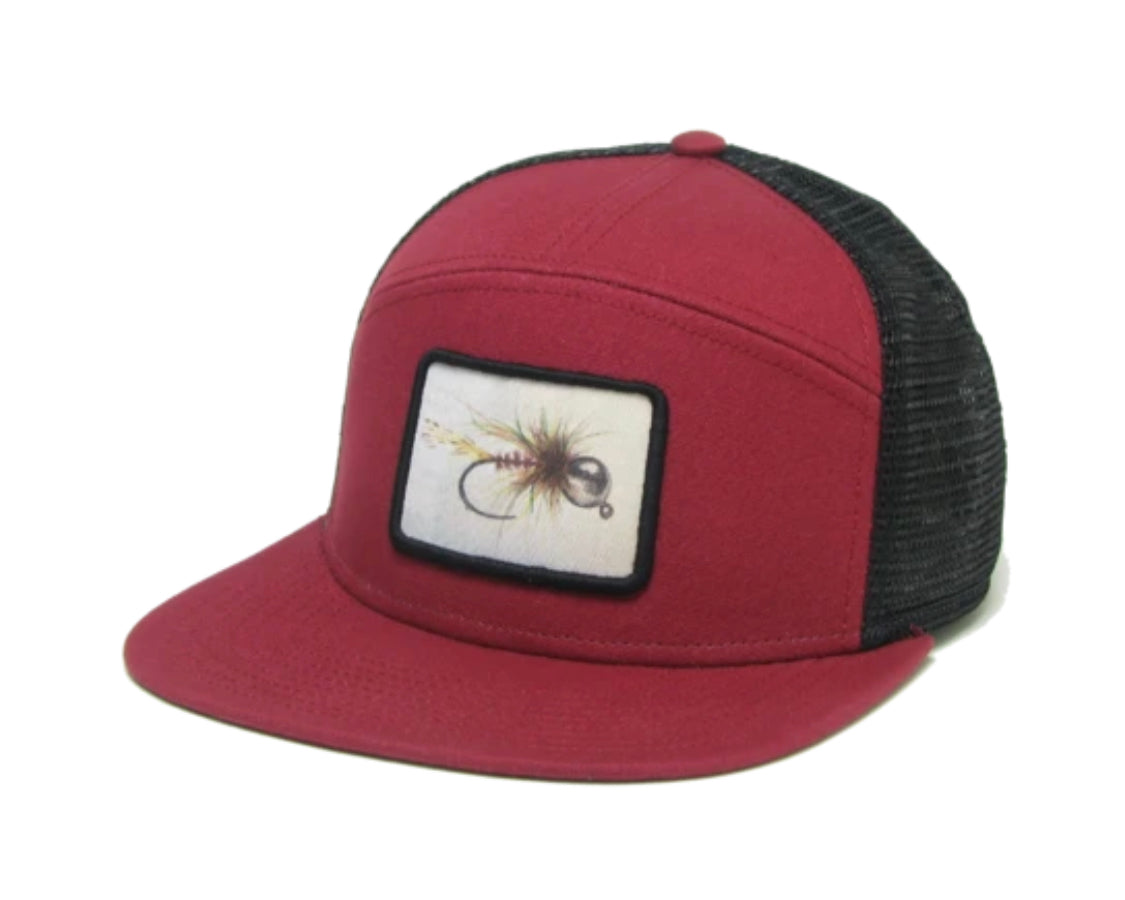 bead headed nymph fly hopback adjustable trucker hat