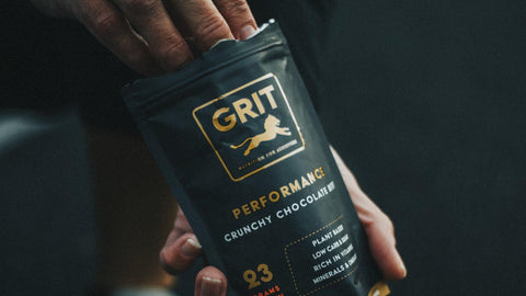 GRIT Superfoods product in hand | Vegan Protein Bites