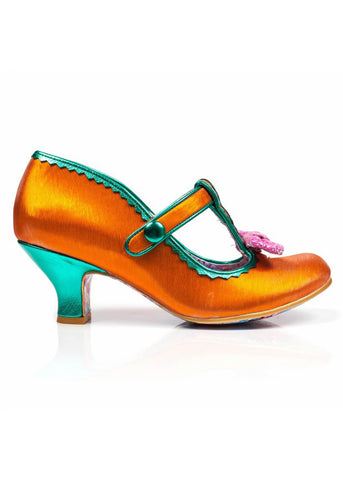 Irregular Choice Lazy River Pumps Orange Grün