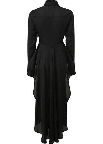 Killstar Sorrows Chiffon Maxi Shirt Schwarz