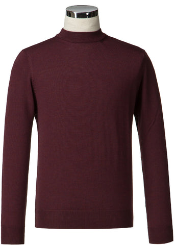 Gibson London Turtle Neck Pullover Burgunder